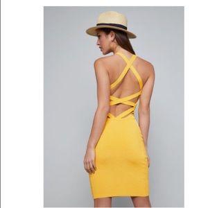 bebe Dresses - Bebe strappy back ribbed dress